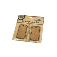 Cork Gift Tag Set - Pk2