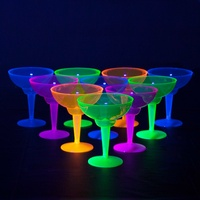 Neon Plastic Margarita Glasses (355ml) - Pk 12