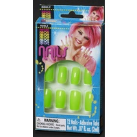 Neon Finger Nails-Green