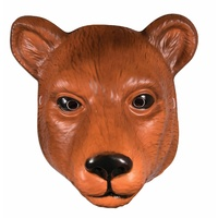 Plastic Animal Mask-Bear