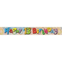 Happy 13th Birthday Holographic Foil Banner - 3.65m