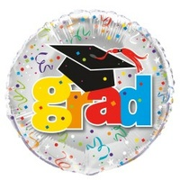"18"" 'Grad' Printed Foil Balloon"
