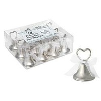 Silver Bells Place Card Holder - Pk 12