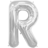 "34"" Letter R Silver Foil Balloon*"