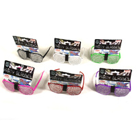 Diamonte Party Glasses - Asst Styles