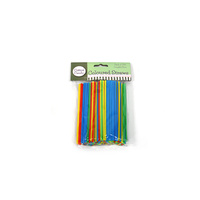 Multicolour Cocktail Straws - Pk 250