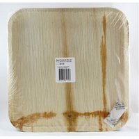 "Palm Leaf Square Plate 10"" - Pack of 25"