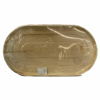 Large Palm Leaf Platter 22x12""