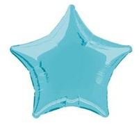 "Baby Blue Star 20"" Foil Balloon"