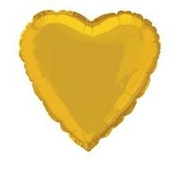 "Gold Heart 18"" Foil Balloon"