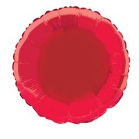 "Red Round 18"" Foil Balloon"
