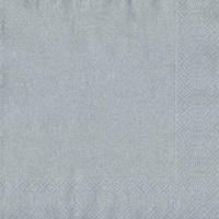 Silver Lunch Napkin (3ply) - Pk 20