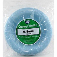 Light Blue Plastic Bowl - Pk 25