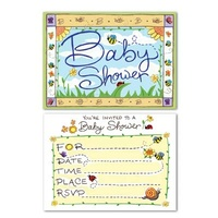 B Is For Baby Invitations - Pk 8