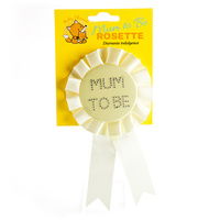 Mum to Be Yellow Baby Shower Rosette
