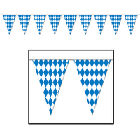 Oktoberfest Pennant Banner - Outdoor quality - 9.14m long