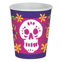Day Of The Dead Beverage Cups - Pk 8