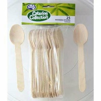 Wooden Spoons 155mm - Pack of 25