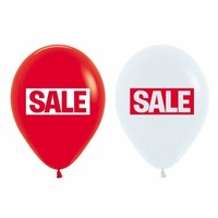 Printed Sale Latex Balloons - Pk 50