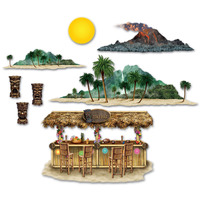 Insta-theme Tiki Bar and Island Props