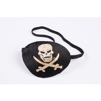 Pirate Eye patch with printed skull and crossbones