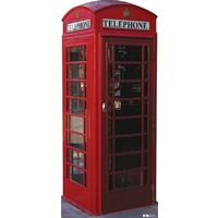 English Phone Booth Self Standing Prop