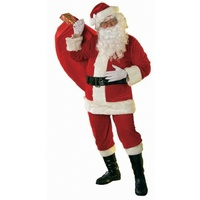 Deluxe Velour Santa Suit - 6 piece XL