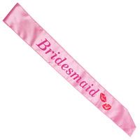 Bridesmaid Light Pink Flashing Sash