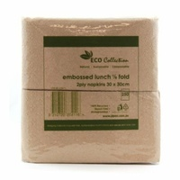 Eco Collection Quilted Dinner Napkins - Pk 100