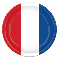 Red, White & Blue Lunch Plates - PK 8