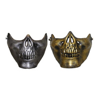 Metallic Skeleton Mouth Mask