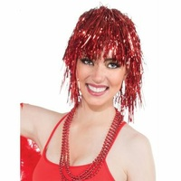 Tinsel Wig - Red
