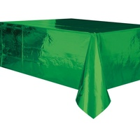 Green Foil Plastic Rectangle Tablecover