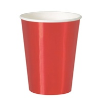 Red Foil Cups - Pk 8