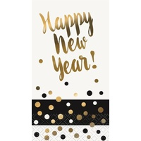 Chic New Year Napkins (3ply) - Pk 16
