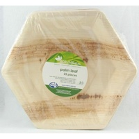 Hexagonal Palm Leaf Plates - PK 25