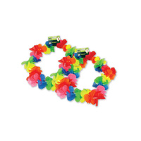 Neon Flower Lei Headband