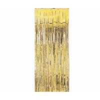 Gold Foil Tinsel Door Curtain - 1M X 2M