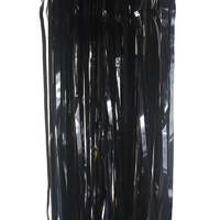 Black Foil Tinsel Door Curtain - 1m x 2m