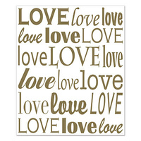 """Love"" Insta-Mural Wall Decoration."