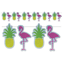 Flamingo & Pineapple Streamer