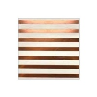 Rose Gold Striped Paper Lunch Napkins - Pk 10