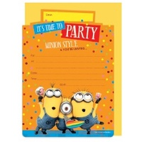 Minions Party Invitations - Pk 16
