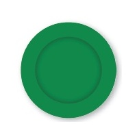 Dark Green Paper Lunch Plates - Pk 8