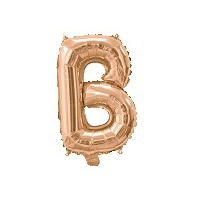 Rose Gold Air Filled 35cm Balloon - Letter B