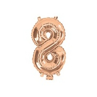 Rose Gold Air Filled 35cm Balloon - # 8