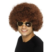 Brown 70's Funky Afro Wig