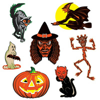 Vintage Halloween Classic Cutouts - PK 7