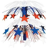 Red, White and Blue Star Cascade Centrepiece