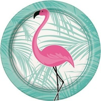 Pink Flamingo Lunch Plates - Pk 8